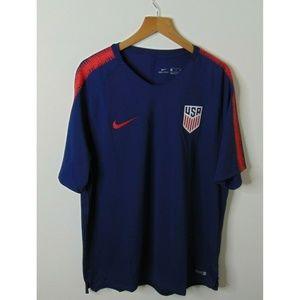 Nike 2XL USA Soccer Jersey Blue Athletic America